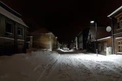 rua no inverno Fotografia de Stock Royalty Free