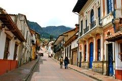 Rua no La center histórico Candelaria de Bogotá´s Fotografia de Stock