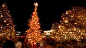 Rua no Natal Fotos de Stock