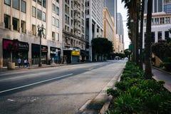 6a rua no quadrado de Pershing, em Los Angeles do centro Imagens de Stock Royalty Free