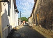 Rua no vendaval do forte fotografia de stock
