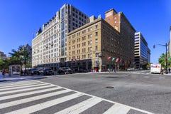 Rua noroeste, Washington DC de E, EUA Imagem de Stock