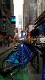 Rua ny do nyc da bicicleta fotografia de stock royalty free