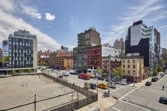 18a rua ocidental e 10o interseção da avenida vistas da linha alta Foto de Stock