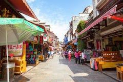 Rua ocidental em Yangshuo Fotografia de Stock Royalty Free