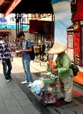 Rua ocupada de Dihua Fotografia de Stock Royalty Free