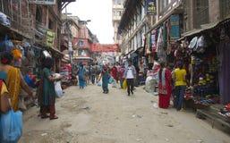 Rua ocupada de Kathmandu Imagens de Stock Royalty Free