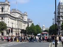 Rua ocupada de Londres Fotos de Stock Royalty Free