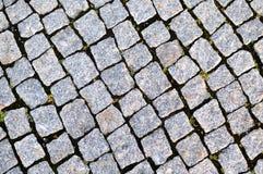 Rua pavimentada com pedra Imagens de Stock