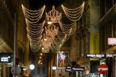 Rua pedestre em Viena fotografia de stock royalty free