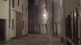 Rua pedestre na noite filme