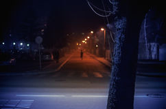 Rua pequena da cidade de Balcãs Foto de Stock
