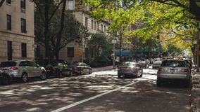 Rua perto do Central Park fotografia de stock royalty free