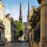 Rua a Pey Berland Place Bordeaux France Foto de Stock Royalty Free