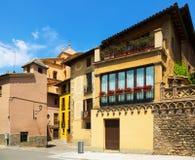Rua pitoresca da cidade Catalan velha vic Fotografia de Stock Royalty Free