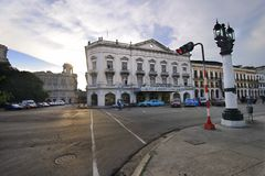Rua popular com cinema do payret. 9 JULHO, 2010. Fotografia de Stock