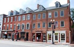 Rua principal 11 de cidade pequena imagem de stock