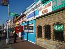 Rua principal agradável da montagem colorida Fotos de Stock