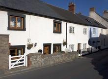 Rua principal das casas de campo brancas Imagem de Stock Royalty Free