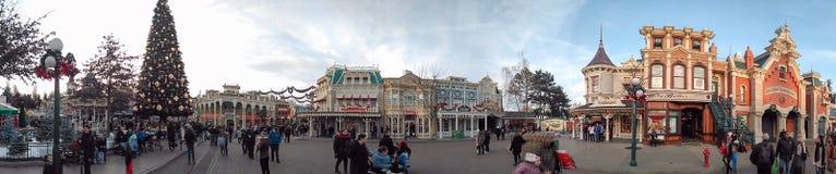 Rua principal de DISNEYLÂNDIA PARIS Imagem de Stock