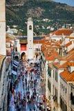 Rua principal de Dubrovnik Foto de Stock Royalty Free