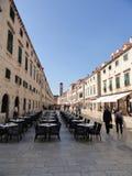 A rua principal de Dubrovnik Fotografia de Stock