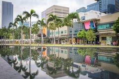 Rua principal em Fort Bonifacio em Manila Foto de Stock Royalty Free