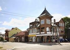 Rua principal em Jozefow poland Imagens de Stock