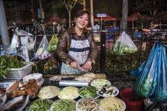 Rua que cozinha, Shanghai Imagens de Stock