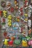 Rua que vende lembranças, Sirmione, Itália Imagens de Stock
