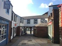 Rua quieta de Penrith num sábado de manhã fotografia de stock