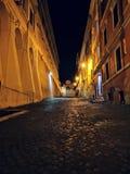 Rua quieta de Roma foto de stock