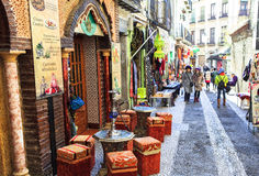 Rua árabe em Granada, Espanha Imagem de Stock Royalty Free