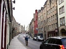 Rua real da milha em Edimburgo, Imagens de Stock