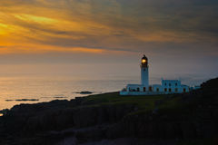 Rua Reidh Lighthouse, Scotland. Rua Reidh Lighthouse in evening light (Scotland Royalty Free Stock Photos
