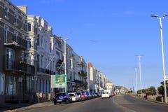 Rua Reino Unido da cidade de Hastings Imagem de Stock