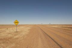 Rua remota do interior em Queensland, Austrália fotos de stock royalty free