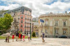 Rua romântica de Lisboa Imagens de Stock Royalty Free