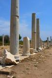 Rua romana antiga de Cardo no lado, Fotografia de Stock