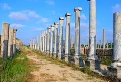 Rua romana antiga de Cardo no lado, Fotos de Stock
