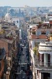 Rua romana na perspectiva Imagens de Stock Royalty Free