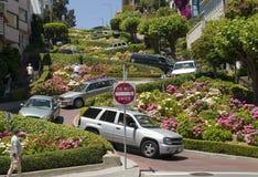 Rua San Francisco do Lombard Fotos de Stock Royalty Free