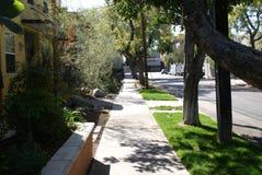 Rua secundária de Hollywood, nomeada mirada do la fotografia de stock royalty free