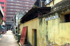 Rua secundária no centro de cidade de Kuala Lumpur Foto de Stock Royalty Free