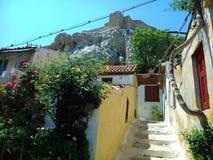 Rua secundária residencial mediterrânea imagens de stock royalty free