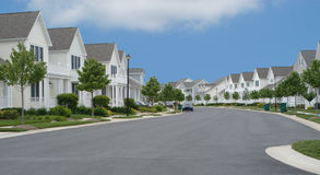Rua suburbana Fotografia de Stock Royalty Free