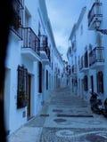 Rua típica de Frigiliana Imagens de Stock Royalty Free