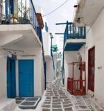 Rua típica de Mykonos Imagens de Stock Royalty Free