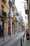 Rua típica de Tarragona Fotos de Stock