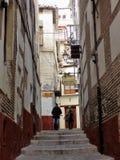 Rua típica do albayzin--Granada-Andaluzia-Espanha Imagem de Stock Royalty Free